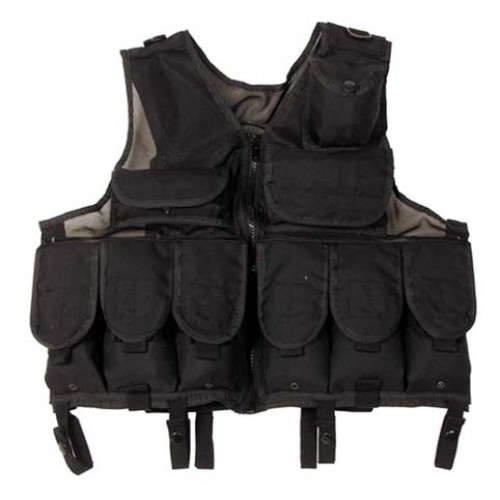 Tactical Vest regolabile, NERO