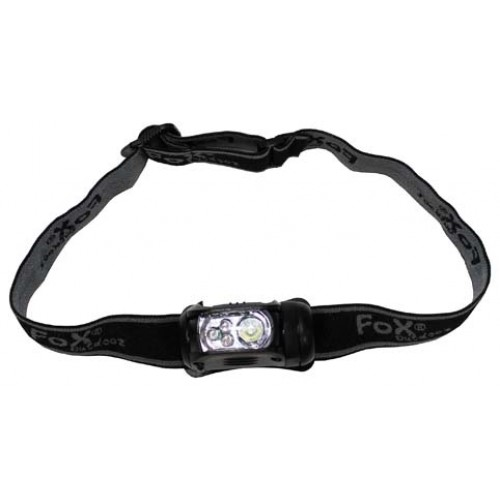 "Head Lamp, ""MOLLE"", LED 1 watt bianco, 3 LED rossi"